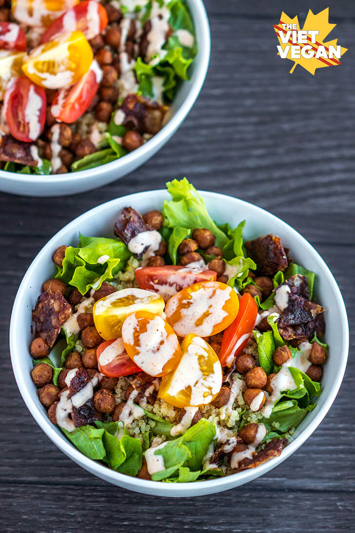 Vegan BLT Quinoa Bowl | The Viet Vegan