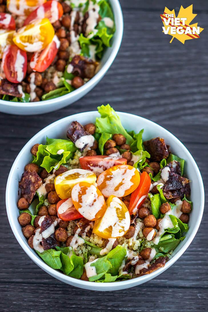 Vegan BLT Quinoa Bowl   The Viet Vegan