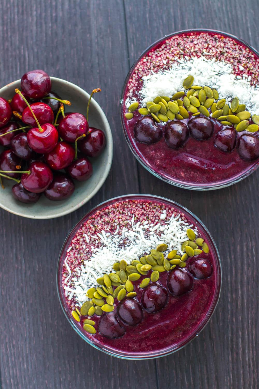 Cherry Açai Bowls | The Viet Vegan