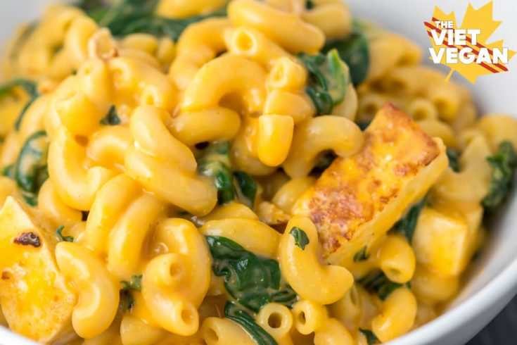 Vegan Red Curry Mac and Cheese