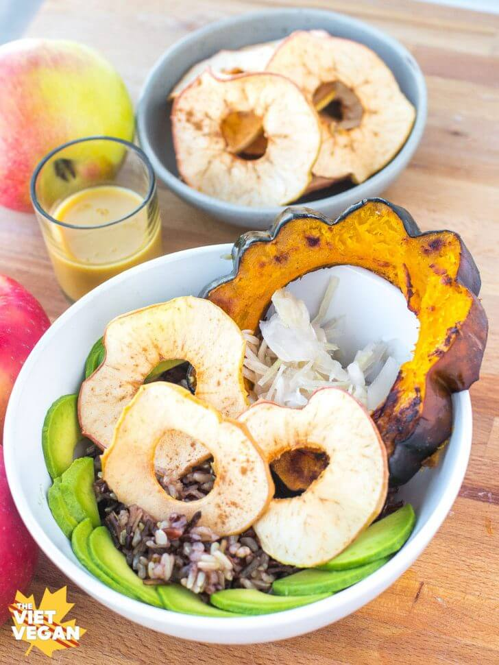 Probiotic Apple Crunch Squash Bowl