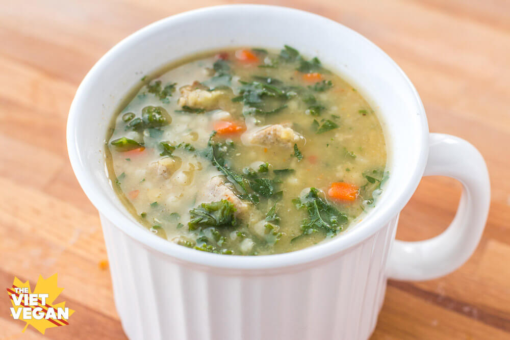 Vegan Wedding Soup | The Viet Vegan | Warming, hearty, and full of vegan sausage, parsley, and broth