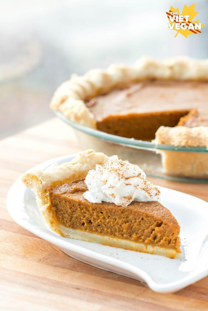 Vegan Pumpkin Pie | The Viet Vegan