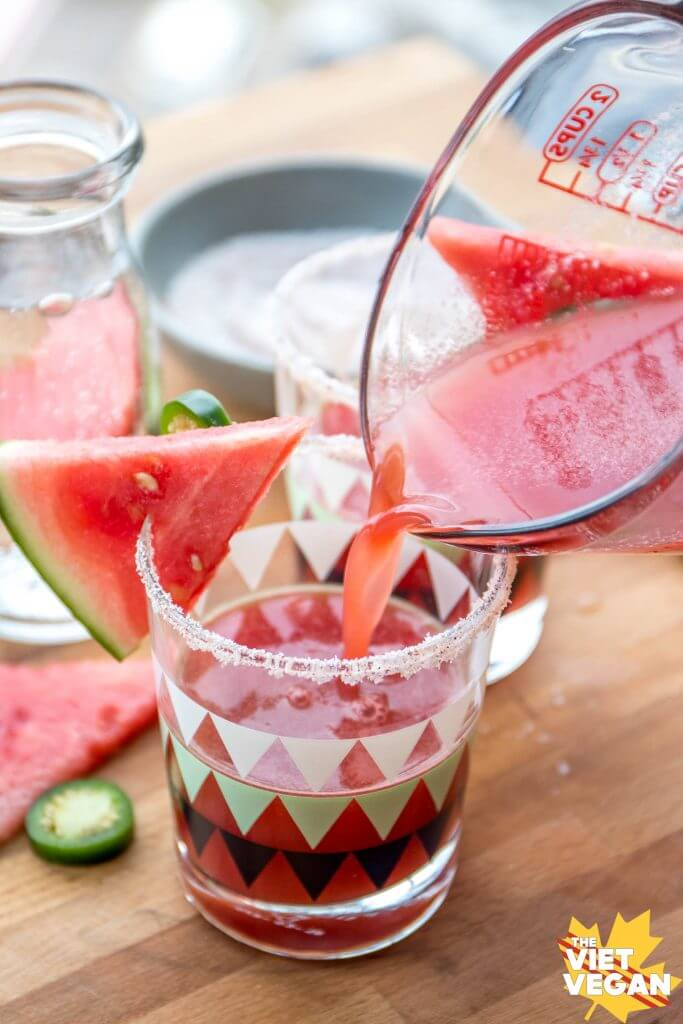Spicy Watermelon Mocktails | The Viet Vegan