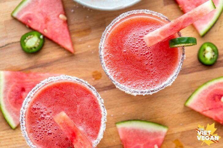 Spicy Watermelon Mocktails | The Viet Vegan