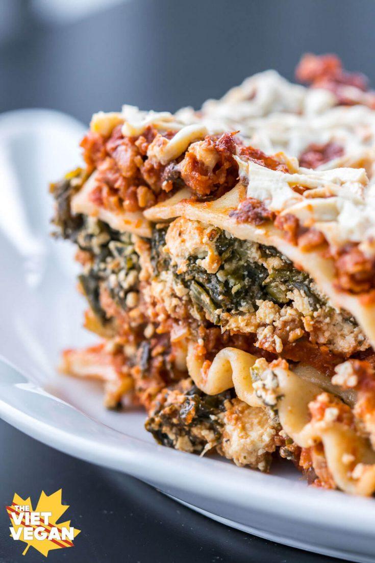 Vegan Lasagna with Spinach Tofu Ricotta