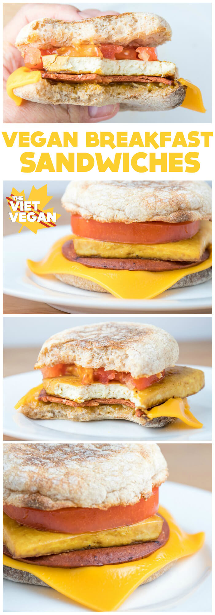 Vegan Egg McMuffins aka Breakfast Sandwiches! | The Viet Vegan