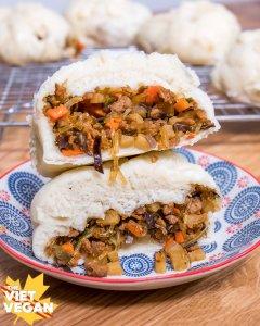 Vegan Steamed Buns - Banh Bao Chay