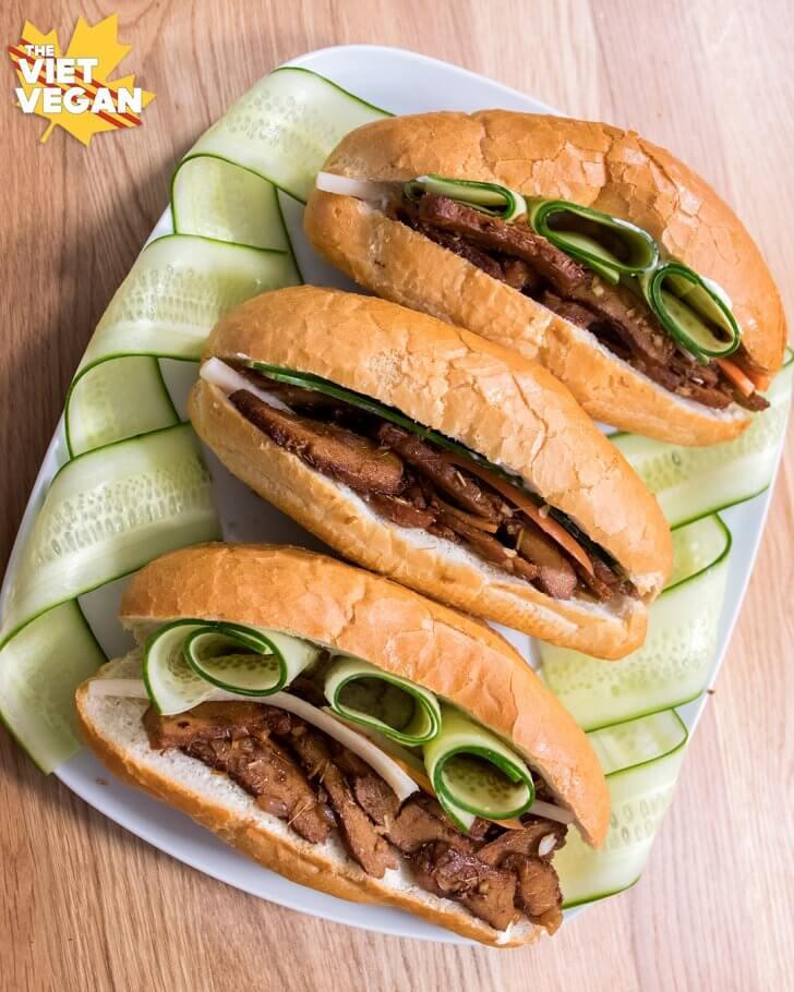 Vegan Lemongrass Beef Banh Mi