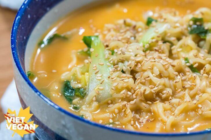 Vegan Cheese Curry Ramen