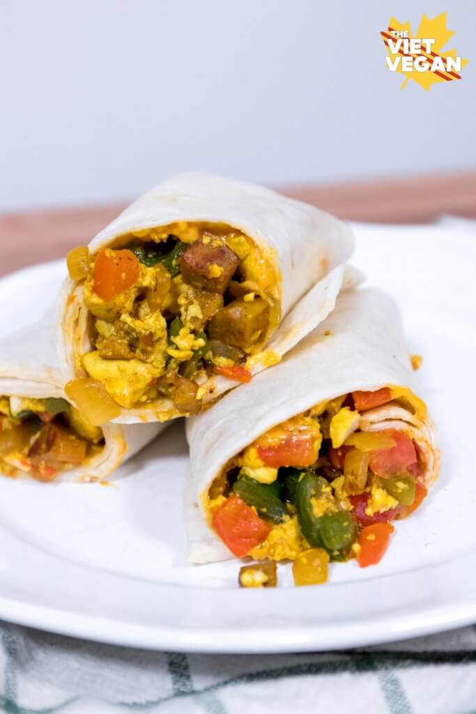 Vegan Breakfast Burritos - The Viet Vegan