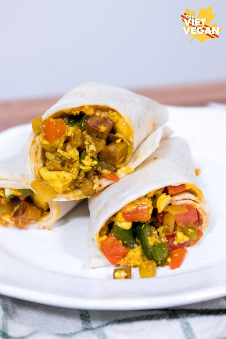 Vegan Breakfast Burritos Recipe By Lisa The Viet Vegan
