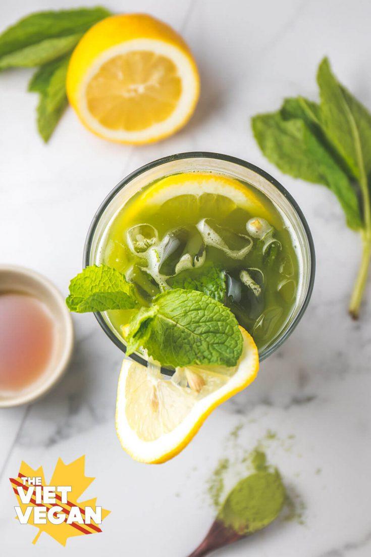 Vegan Matcha Latte & Matcha Lemon Mint Iced Tea | The Viet Vegan