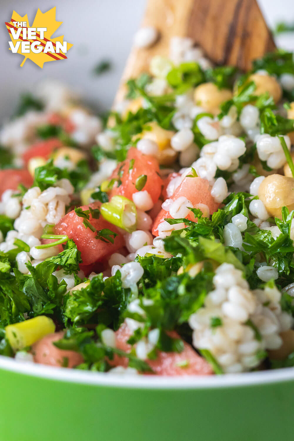 Watermelon Lemon Parsley Grain Salad | The Viet Vegan