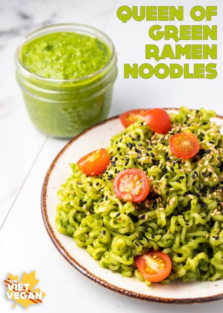 Vegan Green Ramen Noodles