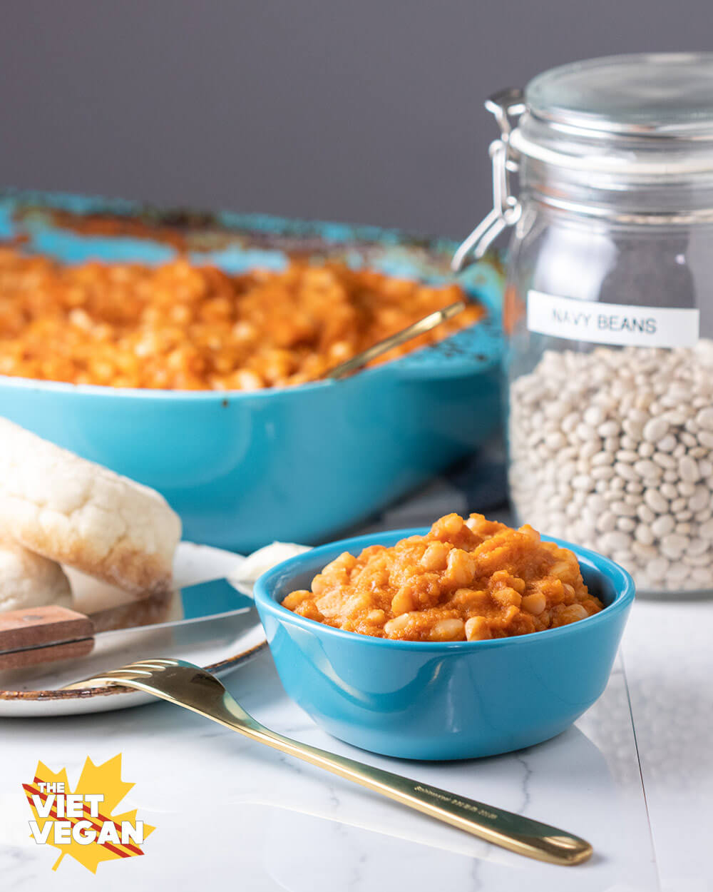 Vegan Baked Beans with Sneaky Veggies | The Viet Vegan