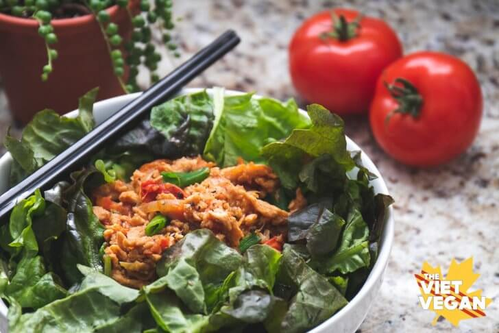 Vegan Tomato Stir Fry Salad – Salad trộn cà chua