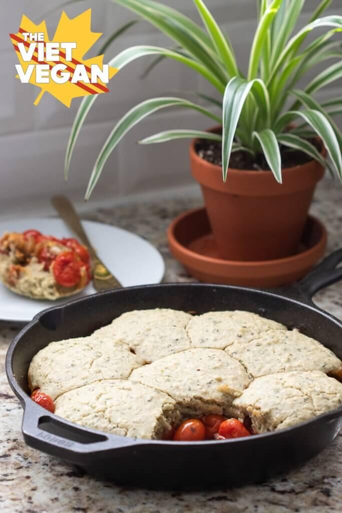 Savoury Tomato Cobbler