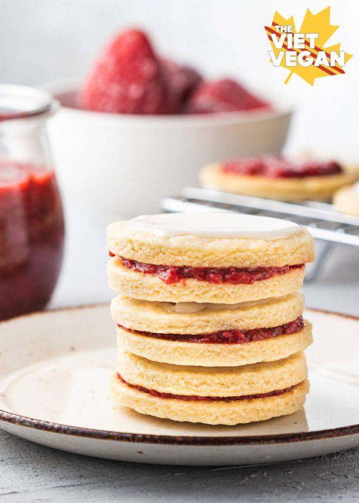 california strawberry jam empire cookies