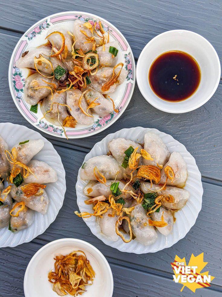 Bánh Bột Lọc Tran Chay - Vegan Vietnamese Clear Dumplings