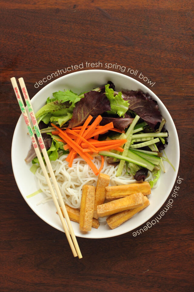 Deconstructed Fresh Spring Roll Bowl