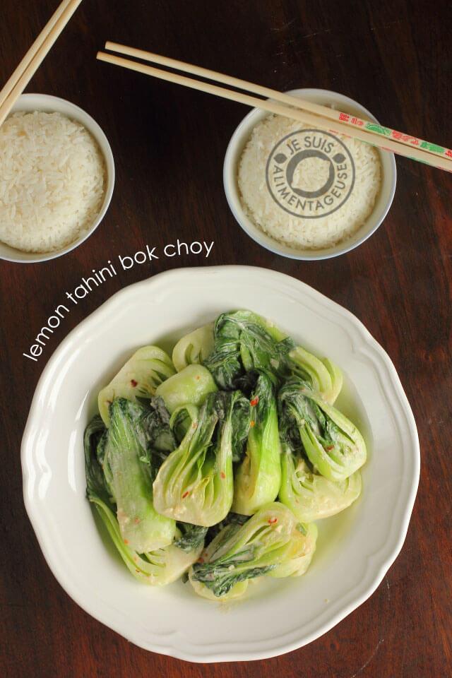 Creamy Lemon Tahini Bok Choy