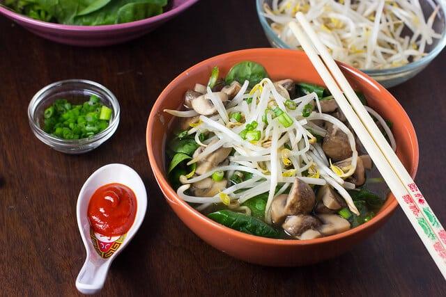 Vegan Mushroom Noodle Soup