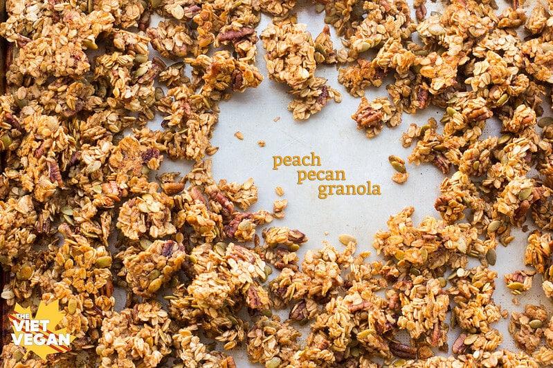Peach Pecan Granola