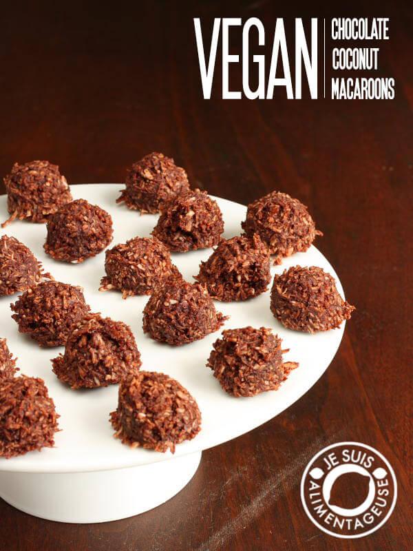 Vegan Chocolate Coconut Macaroons
