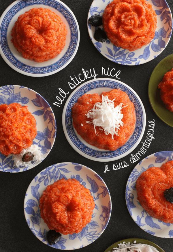 Vietnamese Xoi Gac  Red Sticky Rice