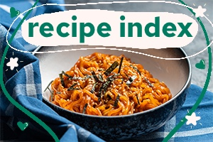 Recipe index footer